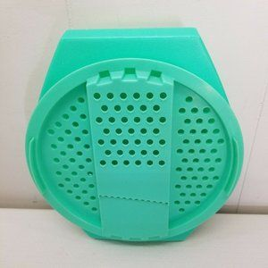 Tupperware Cheese Grater Slicer 2 Pc Green Plastic